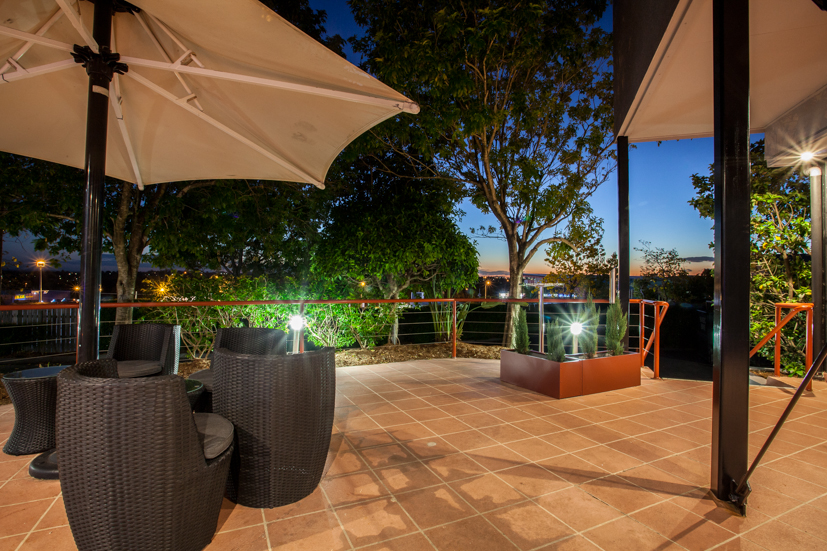 Outdoor terrace, perfect for a sunset.